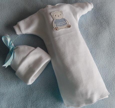Stillborn baby burial clothes Blue TEDDY DAYDREAM born 20-24 weeks tiny