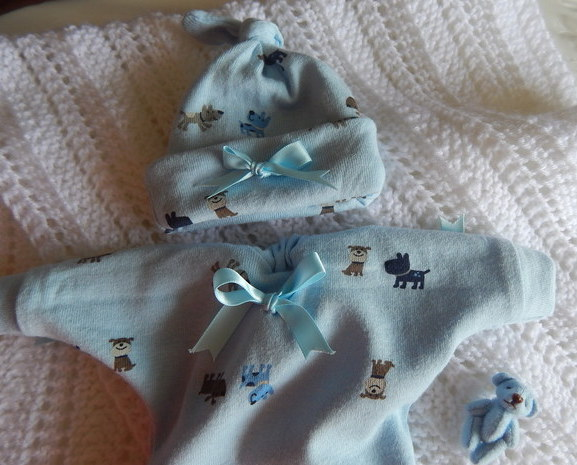 boys baby burial gown clothes gift set 1-2lb BEDDY BYES blue born 24-25 week