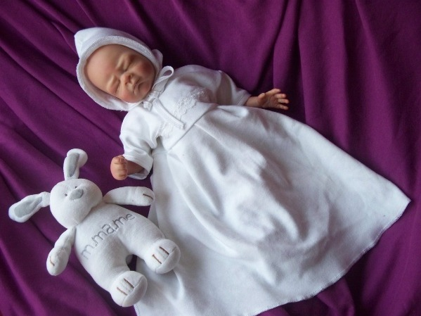 Something Precious PREMATURE BABY BURIAL GOWN SET Lady +lace all tiny sizes born at 20-25 week