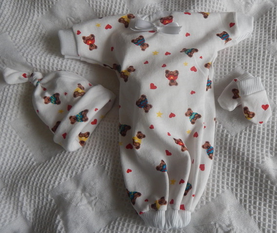 Boys Baby burial clothes Baby Born stillborn COMFORT BEAR 1-2lb
