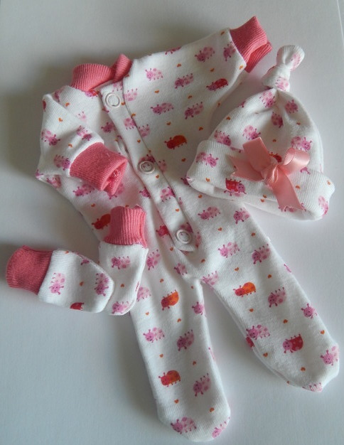 MICRO girls baby burial outfit LITTLE LADYBIRDS gestation 23-24 week