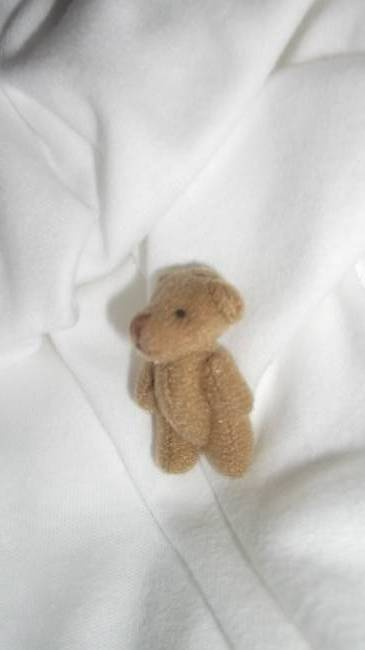 Micro teddy bears here 4 cm MUFFIN  teddybear memory box funeral baby burial
