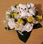 artificial flowers for baby grave plot BED ROSES funeral wreath Lemon 23cm