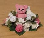 artificial flowers baby graveplot funeral flowers mini wreath PINK BED ROSES