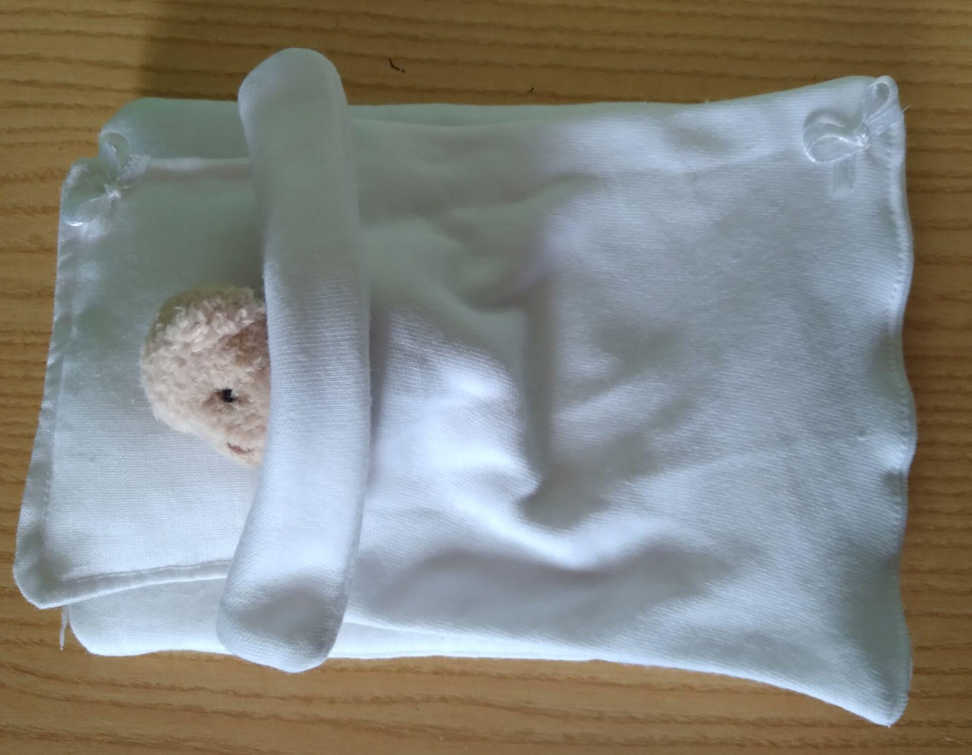 baby blankets baby burial quilt set coffin CRISP WHITE born 15-16 weeks