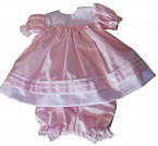 girls infant pink with white funeral dresses DAISYCLUSTER size 2-3lb KNICKS