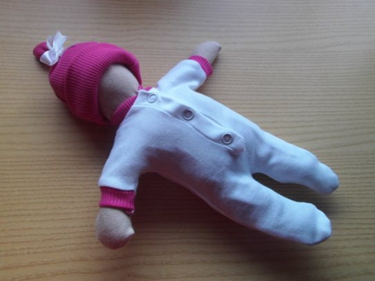 babies funeral Girls white baby burial clothes DEEP PINK trim pregnancy loss 24 weeks