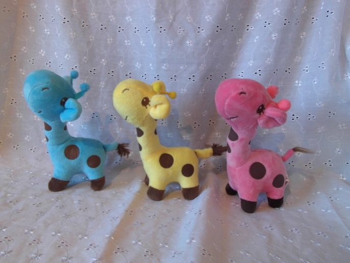 mini teddies for baby memory box miscarriage baby funeral little GIRAFFE Blue 15cm