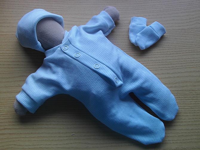 stillborn baby burial clothes baby loss born 22 - 24 weeks PINSTRIPE BLUE