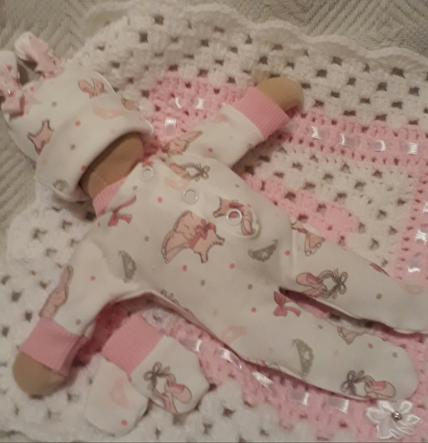 stillborn baby clothes babies burial born 20 weeks BALLERINA BLESSING tiny size