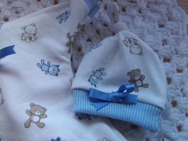 baby Loss Tiny Boys Babies Burial Clothes BEDTIME BEARS Romper set born 24 week