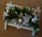 memorial benches baby garden graveside artificial flowers in white