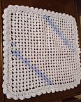 crochet blanket baby burial blankets white with BLUE born at 26 weeks