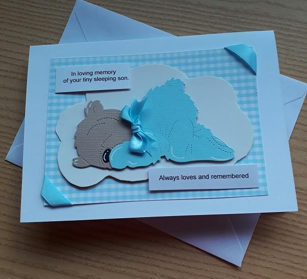#card memb sympathy card baby bereavement cards here  Babies LOVING MEMORY BOY