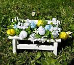 artificial baby burial plot flowers mini garden bench blue lemon