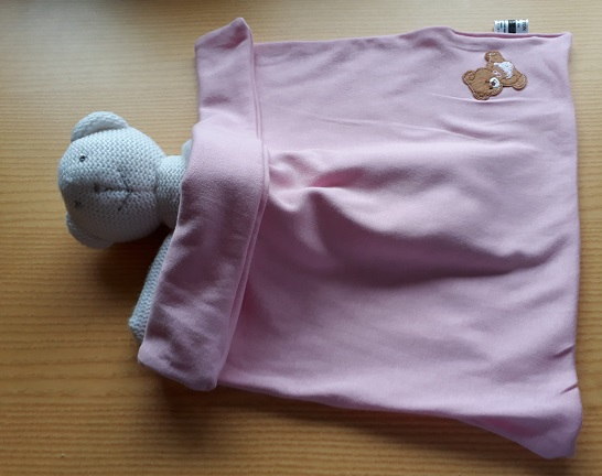 tiny girls baby funeral casket blanket in pink BOOBOO BEAR babies burial born 22-24 week