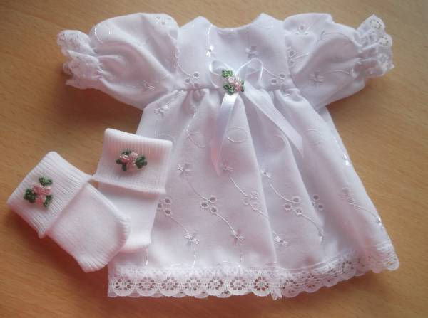 girls baby burial dresses SWEET ROSES dress nappy socks 0-1lb