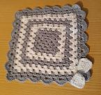 Crochet baby burial blankets CRADLE OF LOVE grey born 22-25 weeks