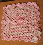 baby blankets Crochet baby burial blanket CRADLE OF LOVE pink born 22-25 weeks