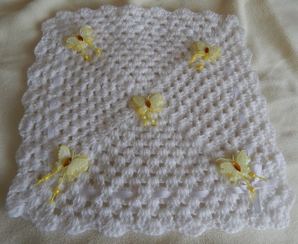 miscarriage baby burial blanket babies coffin yellow FLUTERBY born 23-25 weeks