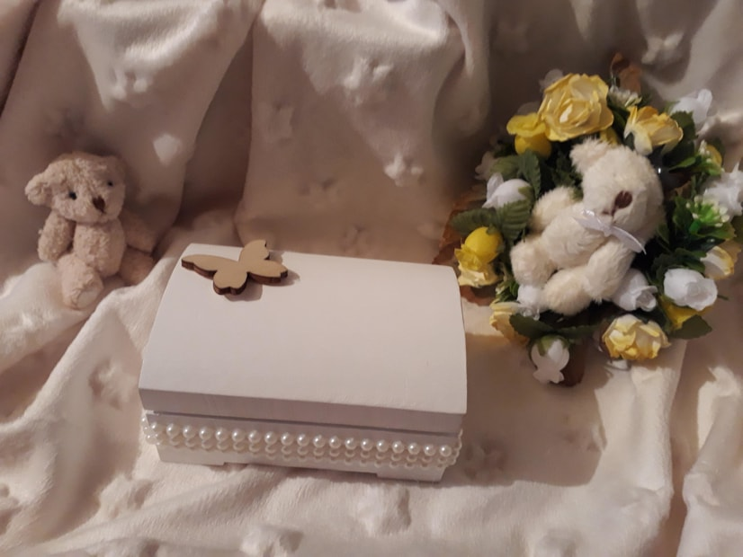 premature baby urns uk mini cremation ashes BOUNTIFUL BUTTERFLY white