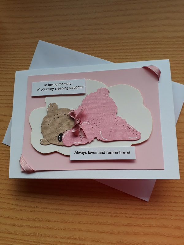 baby memorial funeral card LOVING MEMORY GIRL bereavment cards here