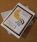baby sympathy card boy GRANDSON Flying high angel
