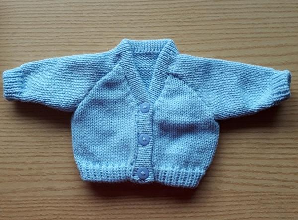 stillborn babies clothes baby burial funeral Cardigan SUMMER BREEZE Blue born 23-25week