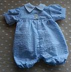 boys baby burial clothes designer rompersuit CLASSIC CHECK blue weighing 1-2lb