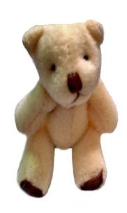 micro teddy bear for baby memory box cream CHAMPION  funeral teddies for tiny babies,