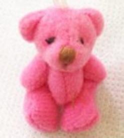 teddy bears baby DEEP PINK 4cm babies keepsake funeral gift