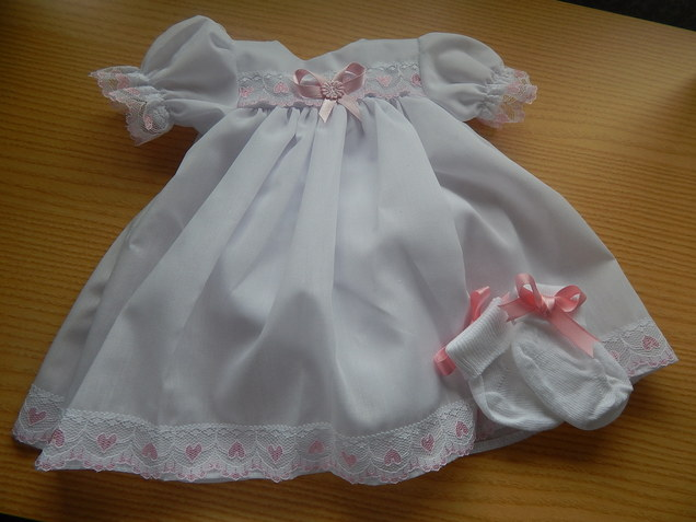 premature baby loss Girls Burial gown white dress PUREST LOVE 3-4lb
