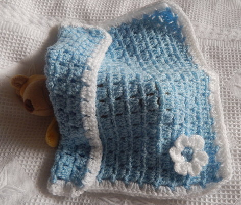 tiny baby loss infant burial Blankets boy  LITTLE BLOOM blue born 22-24 week