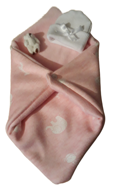 Fetal Demise Pouch baby burial born at 20 weeks SAFARI SNUGGLE RUG girls