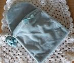 fetal demise pouch luscious velour in BLUE born at 18 weeks