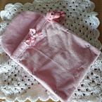fetal demise pouch for baby burial Pink luxury velour PINK born at 18 weeks