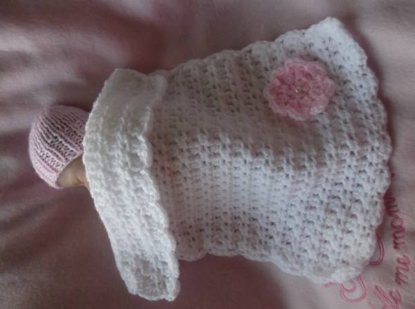 Babies Funeral blanket micro size18-22 weeks gestation TINY BLOSSOM