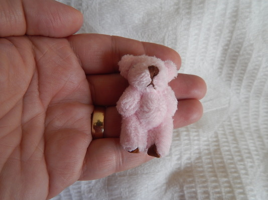 miscarriage gift baby memory box tiny teddybears THUMBERLINA in Pink