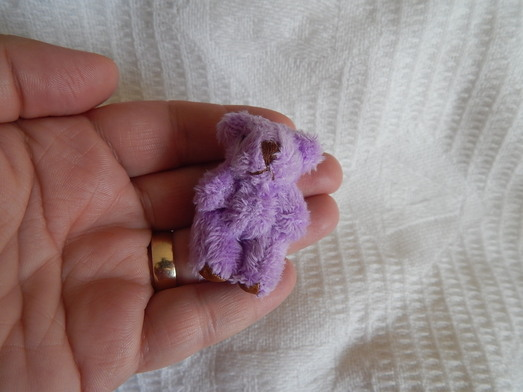 Baby Burial Teddies LUCY teddy bears memory box 4.5cm in LILAC