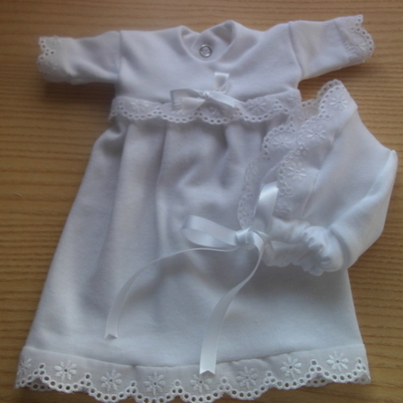 girls baby burial gowns here White tiny born 23-24 weeks HEAVENS JOY