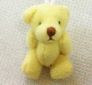 4cm tiny teddies gift baby loss teddy LIGHT LEMON unisex
