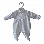 funeral infant burial clothing white sleepsuit 2-3lb size LITTLE STAR