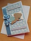 baby burial cards babies funeral baby loss card sympathy LOTS OF LOVE blue