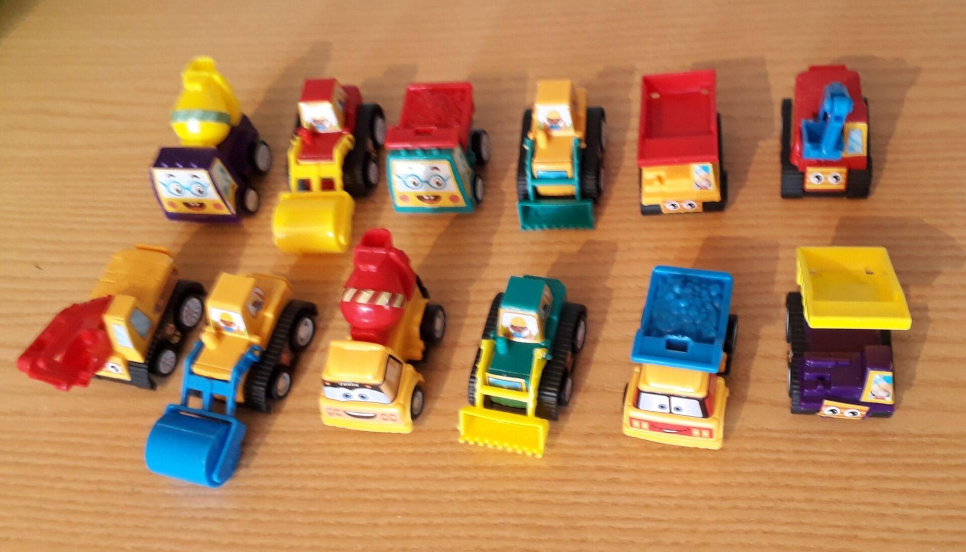 memory box gift baby keepsake tiny bereavement toy CONSTRUCTION TRUCKS