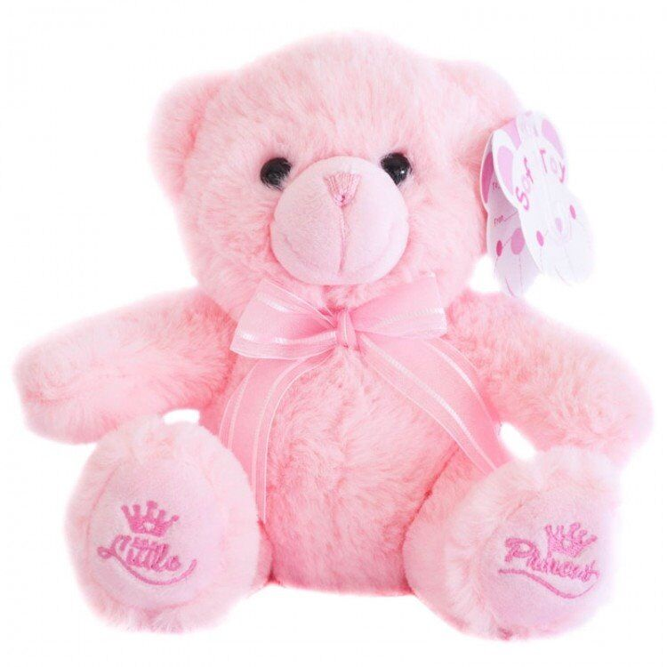 memory box gift tiny teddy bears 150mm LITTLE PRINCESS pink