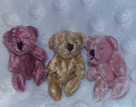 very tiny teddies memory box teddy bear baby burial gift 4.5cm BLUSH