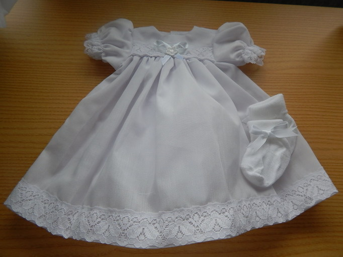 Premature baby loss Girls Baby Burial Gown Dress OUR ANGEL size 3-4lb