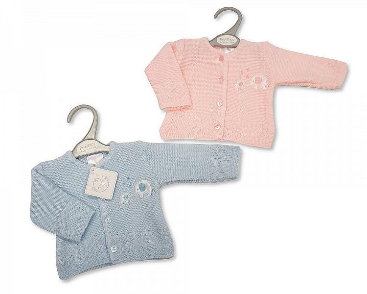 premature baby burial clothes cardigan infant stillborn weight 3-5lb ELEPHANT