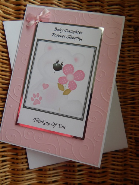 baby sympathy card a Daughter PETALS OF BEAUTY