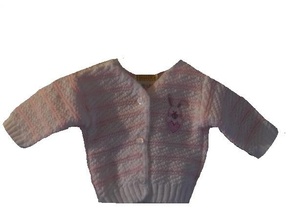 premature infant stillborn baby clothes bunnies cardigan pink 3-5lb